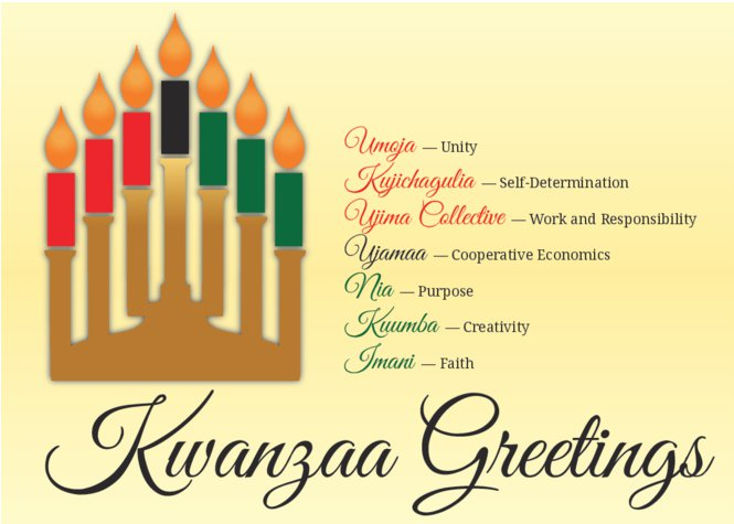 Kwanzaa Greetings Kinara Candles